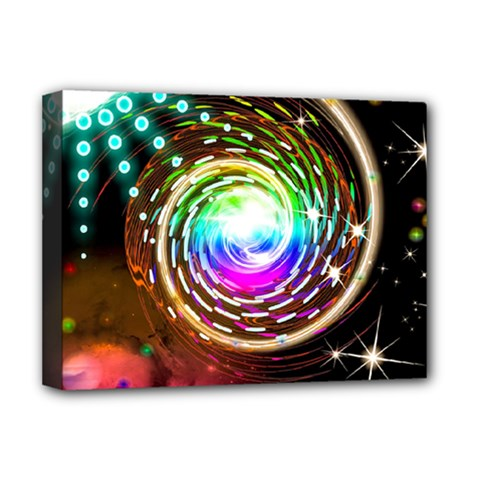 Space Star Planet Light Galaxy Moon Deluxe Canvas 16  X 12   by Mariart