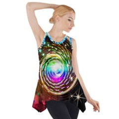 Space Star Planet Light Galaxy Moon Side Drop Tank Tunic by Mariart
