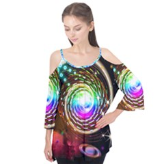 Space Star Planet Light Galaxy Moon Flutter Tees by Mariart