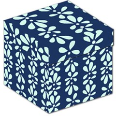 Star Flower Floral Blue Beauty Polka Storage Stool 12   by Mariart