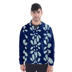 Star Flower Floral Blue Beauty Polka Wind Breaker (men)