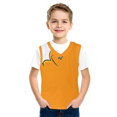 Star Line Orange Green Simple Beauty Cute Kids  Sportswear by Mariart