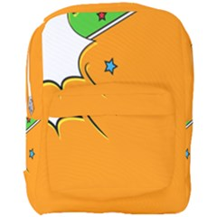 Star Line Orange Green Simple Beauty Cute Full Print Backpack by Mariart
