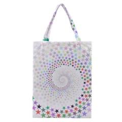 Prismatic Stars Whirlpool Circlr Rainbow Classic Tote Bag by Mariart