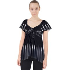 Style Line Amount Wave Chevron Dolly Top
