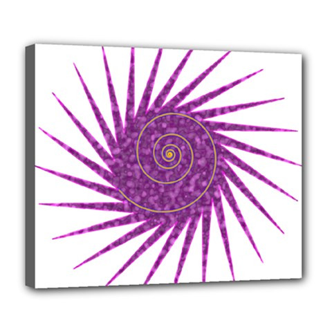 Spiral Purple Star Polka Deluxe Canvas 24  X 20   by Mariart