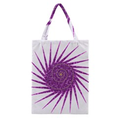 Spiral Purple Star Polka Classic Tote Bag by Mariart