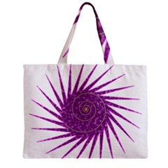 Spiral Purple Star Polka Zipper Mini Tote Bag by Mariart