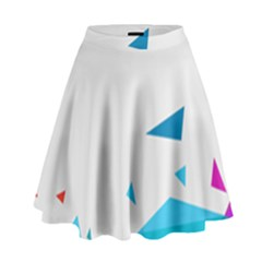 Triangle Chevron Colorfull High Waist Skirt by Mariart