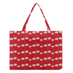 Sunflower Red Star Beauty Flower Floral Medium Tote Bag by Mariart
