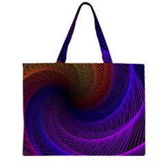 Striped Abstract Wave Background Structural Colorful Texture Line Light Wave Waves Chevron Zipper Large Tote Bag by Mariart