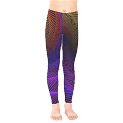 Striped Abstract Wave Background Structural Colorful Texture Line Light Wave Waves Chevron Kids  Legging by Mariart