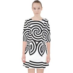Triple Spiral Triskelion Black Pocket Dress
