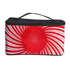 Spiral Red Polka Star Cosmetic Storage Case by Mariart
