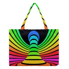 Twisted Motion Rainbow Colors Line Wave Chevron Waves Medium Tote Bag by Mariart