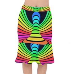 Twisted Motion Rainbow Colors Line Wave Chevron Waves Mermaid Skirt by Mariart