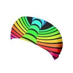 Twisted Motion Rainbow Colors Line Wave Chevron Waves Yoga Headband by Mariart