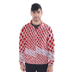Waves Wave Learning Connection Polka Red Pink Chevron Wind Breaker (men)
