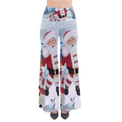 Funny Santa Claus With Snowman Pants