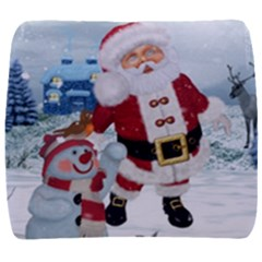 Funny Santa Claus With Snowman Back Support Cushion