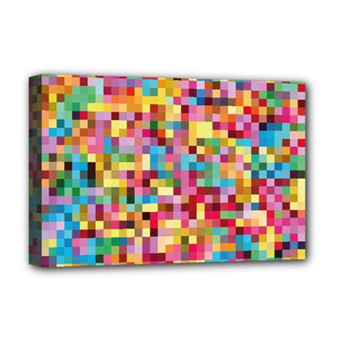 Mosaic Pattern 2 Deluxe Canvas 18  X 12   by tarastyle