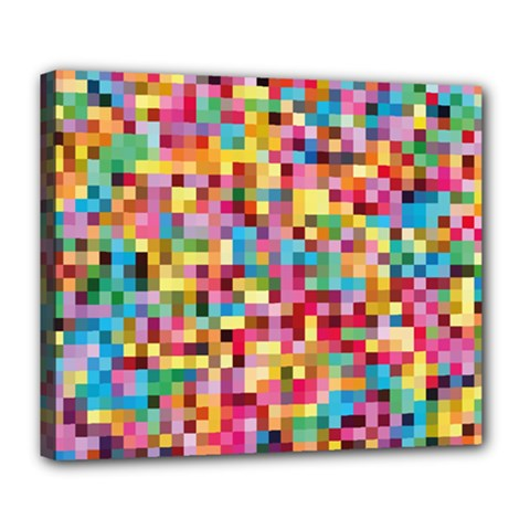 Mosaic Pattern 2 Deluxe Canvas 24  X 20   by tarastyle