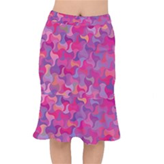 Mosaic Pattern 4 Mermaid Skirt by tarastyle