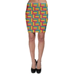 Soft Spheres Pattern Bodycon Skirt by linceazul