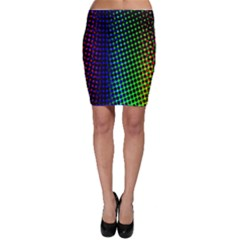 Digitally Created Halftone Dots Abstract Background Design Bodycon Skirt