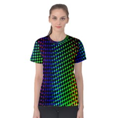 Digitally Created Halftone Dots Abstract Background Design Women s Cotton Tee