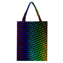 Digitally Created Halftone Dots Abstract Background Design Classic Tote Bag by Nexatart
