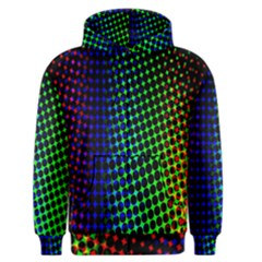 Digitally Created Halftone Dots Abstract Background Design Men s Zipper Hoodie