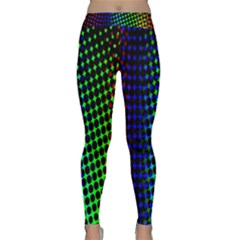 Digitally Created Halftone Dots Abstract Background Design Classic Yoga Leggings