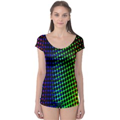 Digitally Created Halftone Dots Abstract Background Design Boyleg Leotard