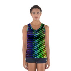 Digitally Created Halftone Dots Abstract Background Design Sport Tank Top