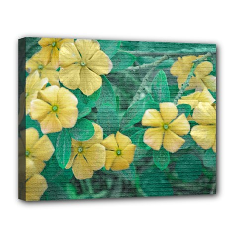 Yellow Flowers At Nature Canvas 14  X 11  by dflcprints