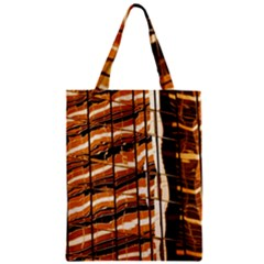 Abstract Architecture Background Zipper Classic Tote Bag