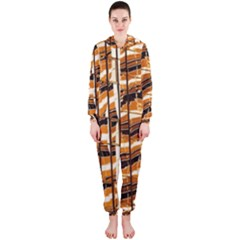 Abstract Architecture Background Hooded Jumpsuit (ladies)