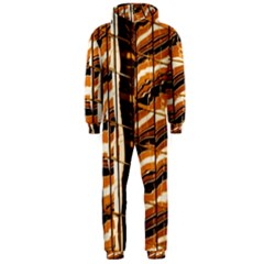 Abstract Architecture Background Hooded Jumpsuit (men)