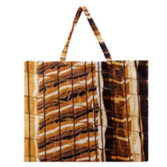 Abstract Architecture Background Zipper Large Tote Bag