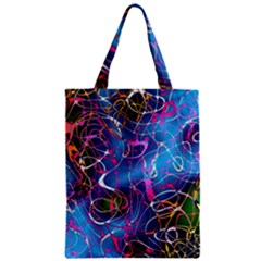 Background Chaos Mess Colorful Zipper Classic Tote Bag