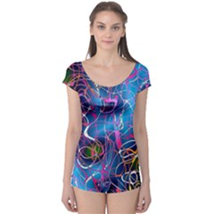 Background Chaos Mess Colorful Boyleg Leotard