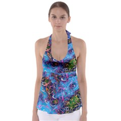 Background Chaos Mess Colorful Babydoll Tankini Top