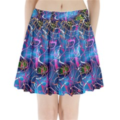 Background Chaos Mess Colorful Pleated Mini Skirt