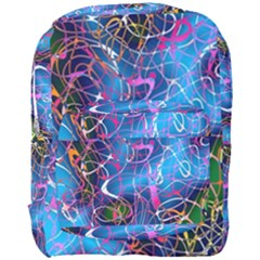 Background Chaos Mess Colorful Full Print Backpack
