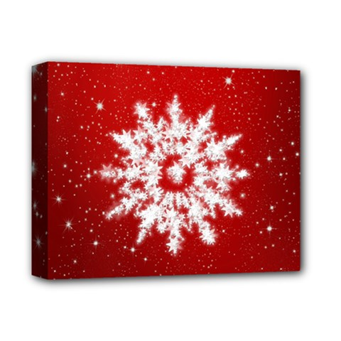 Background Christmas Star Deluxe Canvas 14  X 11