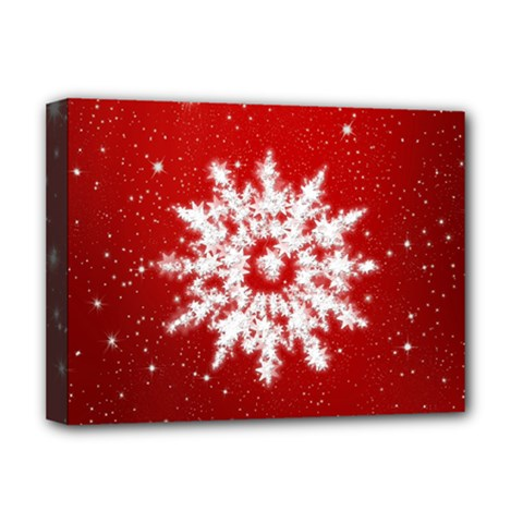 Background Christmas Star Deluxe Canvas 16  X 12   by Nexatart