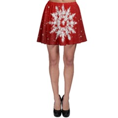 Background Christmas Star Skater Skirt