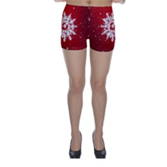 Background Christmas Star Skinny Shorts