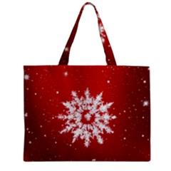 Background Christmas Star Zipper Mini Tote Bag by Nexatart